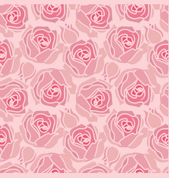 seamless pattern with rose vector image