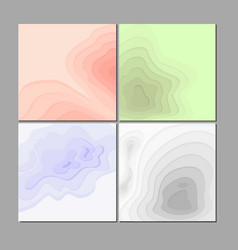 set of paper abstract vector image