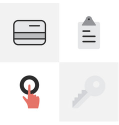 Set of simple job icons vector