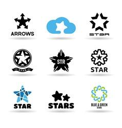 set stars vector image