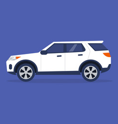 Side view a sport utility vehicle no people vector