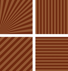 Simple brown striped pattern set vector