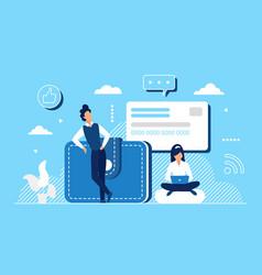smart wallet online bank transaction service vector image
