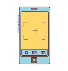 smartphone device with photographic app vector image