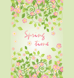 Spring banner with apple-tree blossom vector
