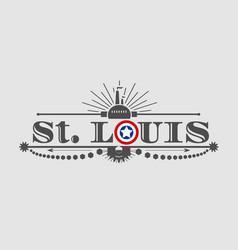 st louis city name vector image