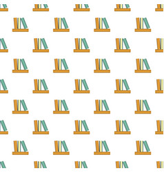 stack of books pattern seamless vector image