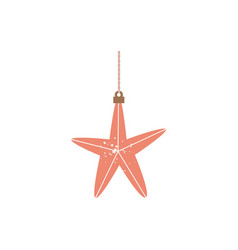 star shape christmas tree toy decoration flat vector image