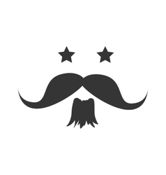 Stars mustache beard vector