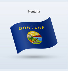 state of montana flag waving form vector image