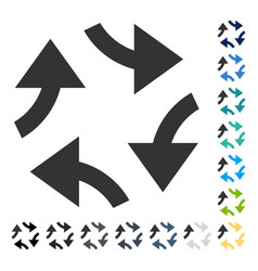 Swirl arrows icon vector