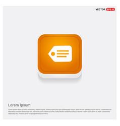 Tag icon orange abstract web button vector