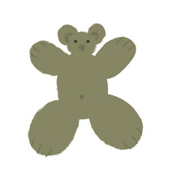 teddy bear in cartoon style with big limbs and vector image