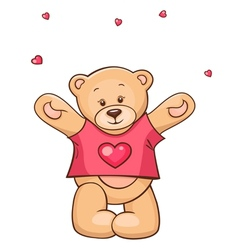 Teddy Bear in heart t-shirt vector