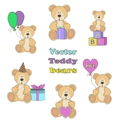 Teddy Bear set vector image