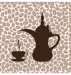 The coffee pot Arabic vector image
