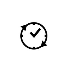 time clock icon design template vector image