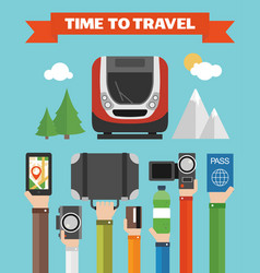 Time to travel modern concept flat vector