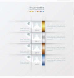 Timeline report design template gold bronze vector