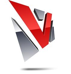 V 3d letter vector image