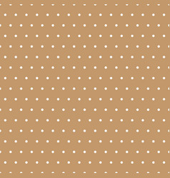 white polka dots on beige background vector image