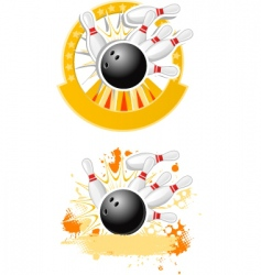 bowling strike vector image vector image