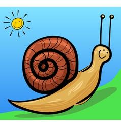 cute snail cartoon vector image vector image