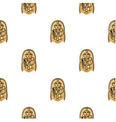 egyptian pharaoh sarcophagus icon in cartoon style vector image vector image