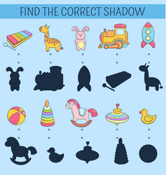 find the correct shadow educational game for vector image