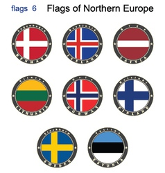 Flags of North Europe vector image
