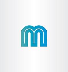 letter m blue icon design vector image