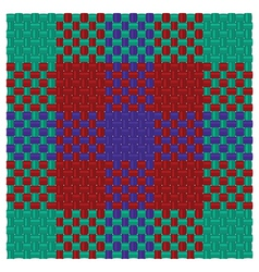 Three colored tartan vector image vector image