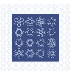 basic symbol templates for background and vector image vector image