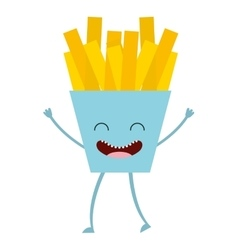 fast food character cute icon vector image