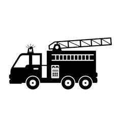 Fire truck equipement service emergency vector