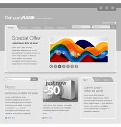 gray website template vector image vector image