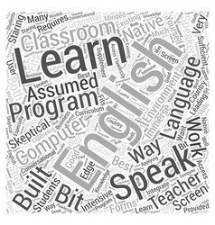 Learn to speak english word cloud concept vector
