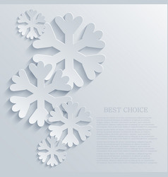 modern snowflakes light background vector image vector image
