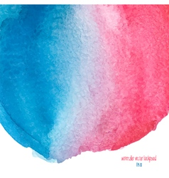 Red and blue watercolor background vector