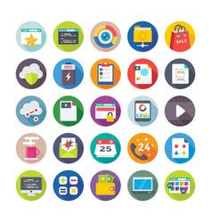 seo and digital marketing icons 5 vector image