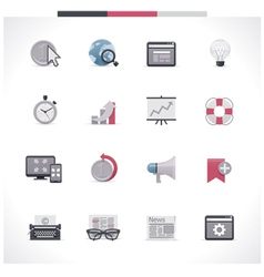 SEO icon set Part 2 vector image vector image