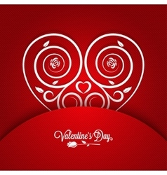 Valentines Day Vintage Card Ornament Background vector image