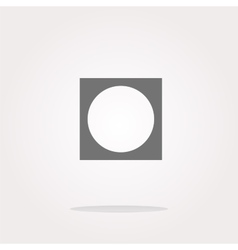 Apps icon abstract sign on web button isolated on vector image