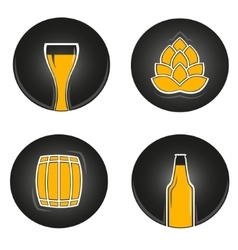 colorful beer icons vector image vector image