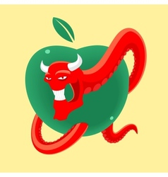 Forbidden fruit vector image vector image