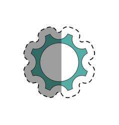 industry wheel cog icon vector image