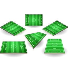 Set of Soccer Fields in Six Positions vector image vector image