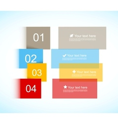 Colorful brochure vector image vector image