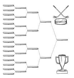 doodle sports bracket nhl vector image