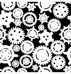 Gears seamless pattern vector image